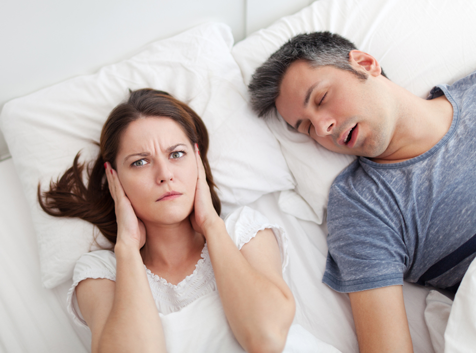 lady can't sleep next to man